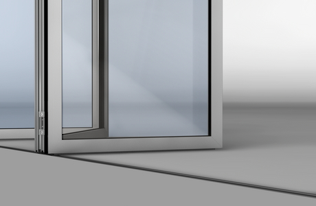 SL45 Folding Glass Walls-features an all aluminum design
