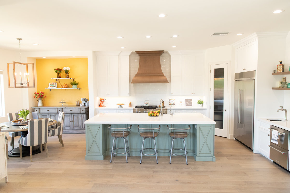 RecipeGirl's new kitchen remodel with folding glass wall