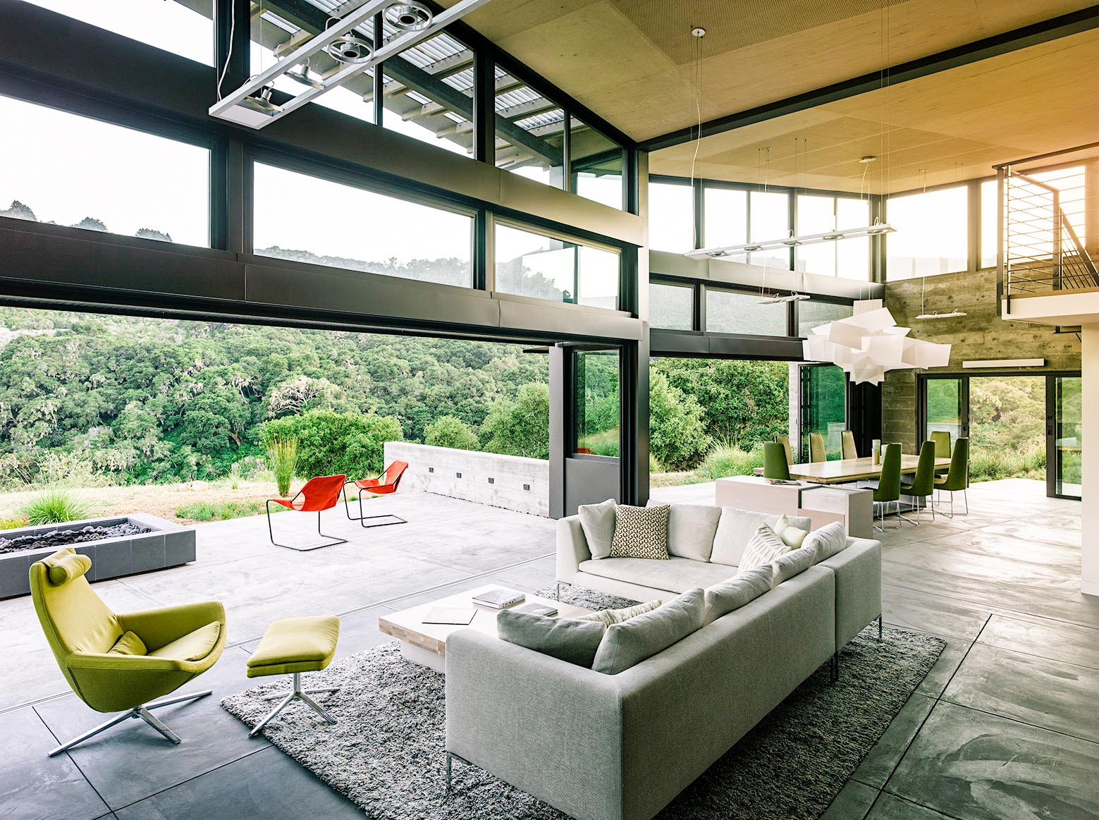 design inspiration in this serene home in Carmel California with folding glass walls
