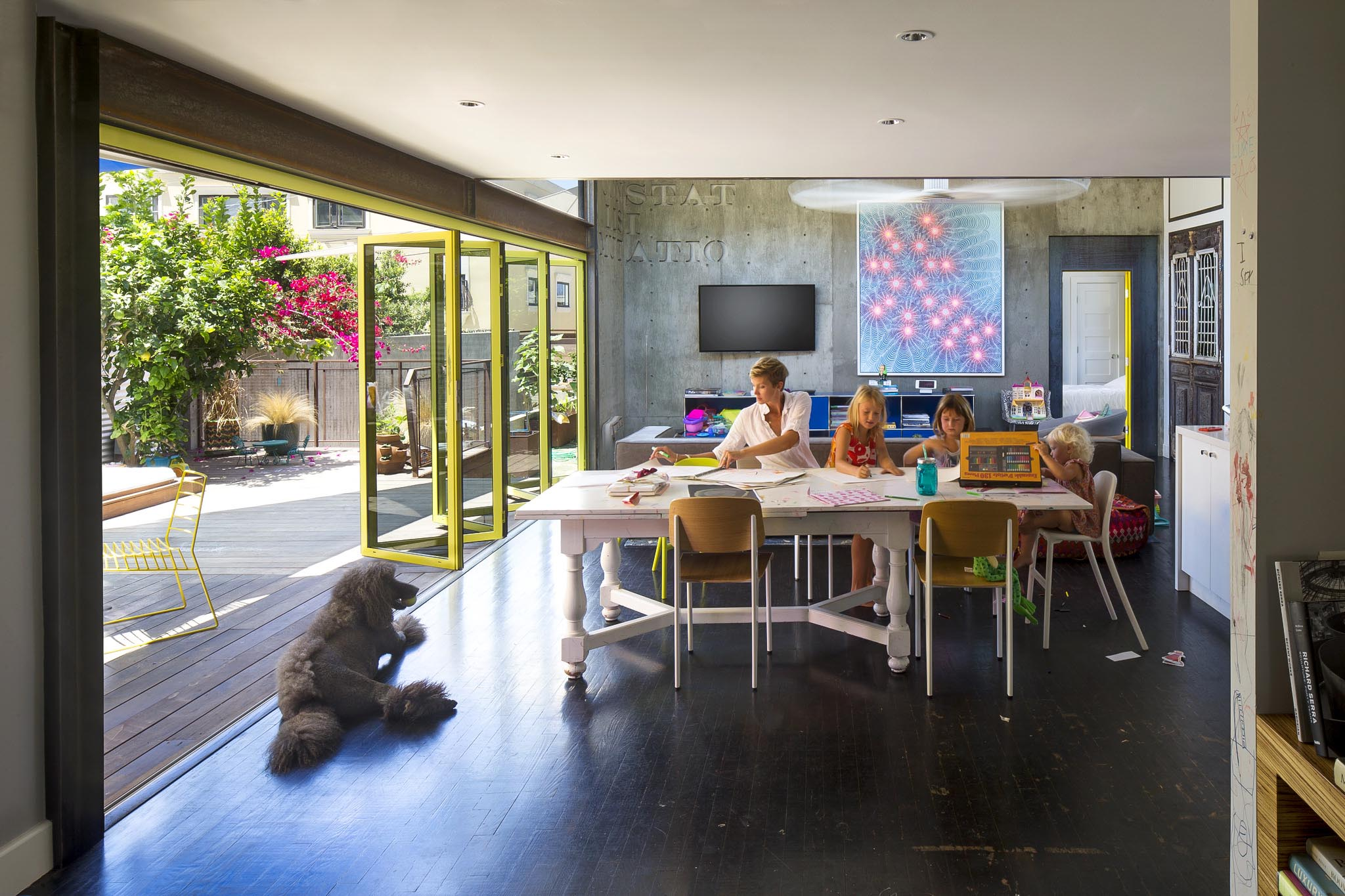 creating a healthy home for homeschooling with fresh air and daylight with bifold door