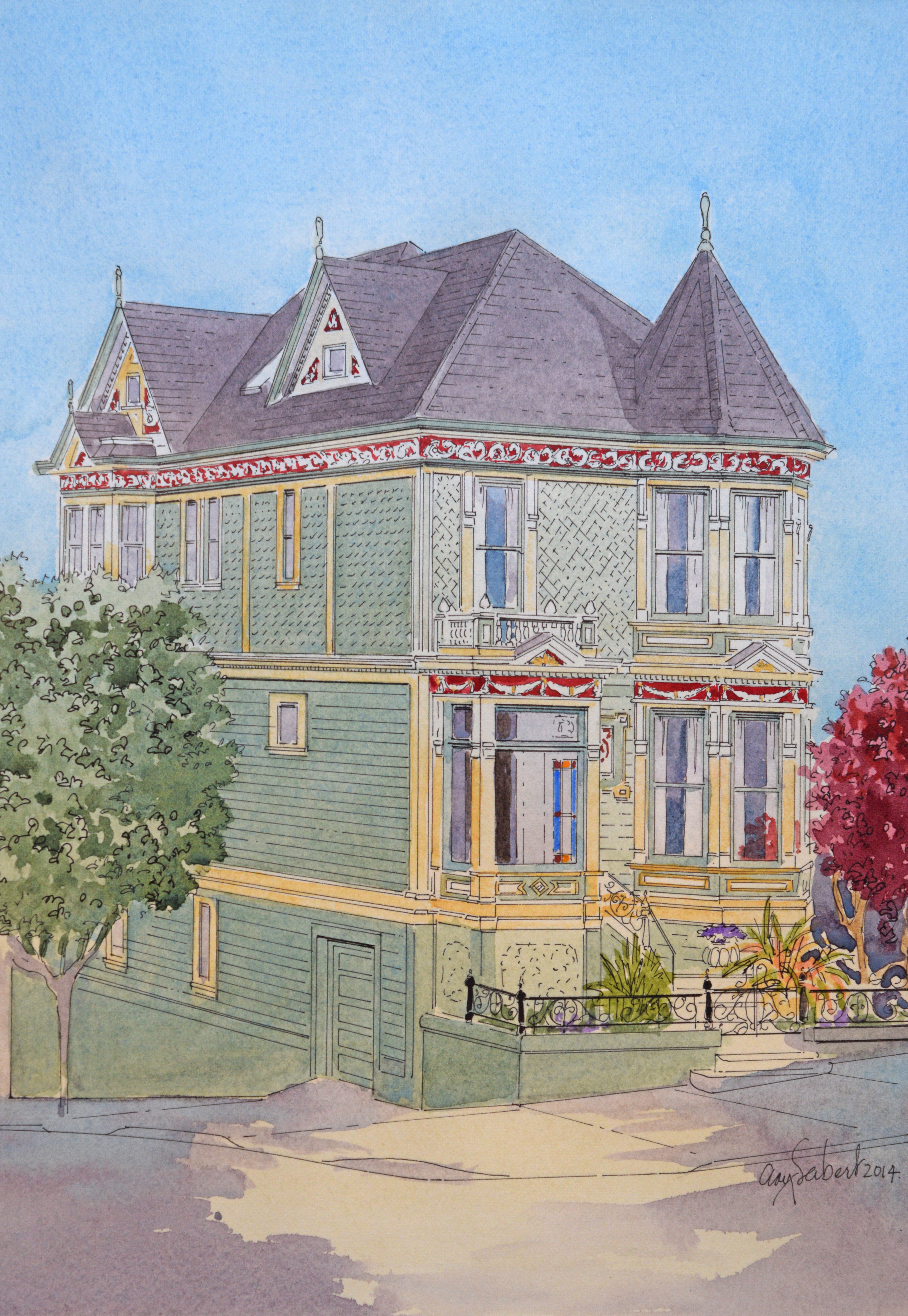 A Star Is Rebornsan Franciscos Famous Painted Lady Nanawall - How-to-paint-a-victorian-style-home