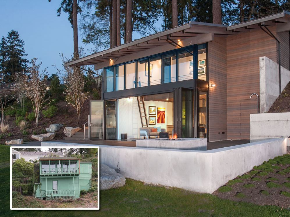 folding glass wall adds new life to a remodeled home