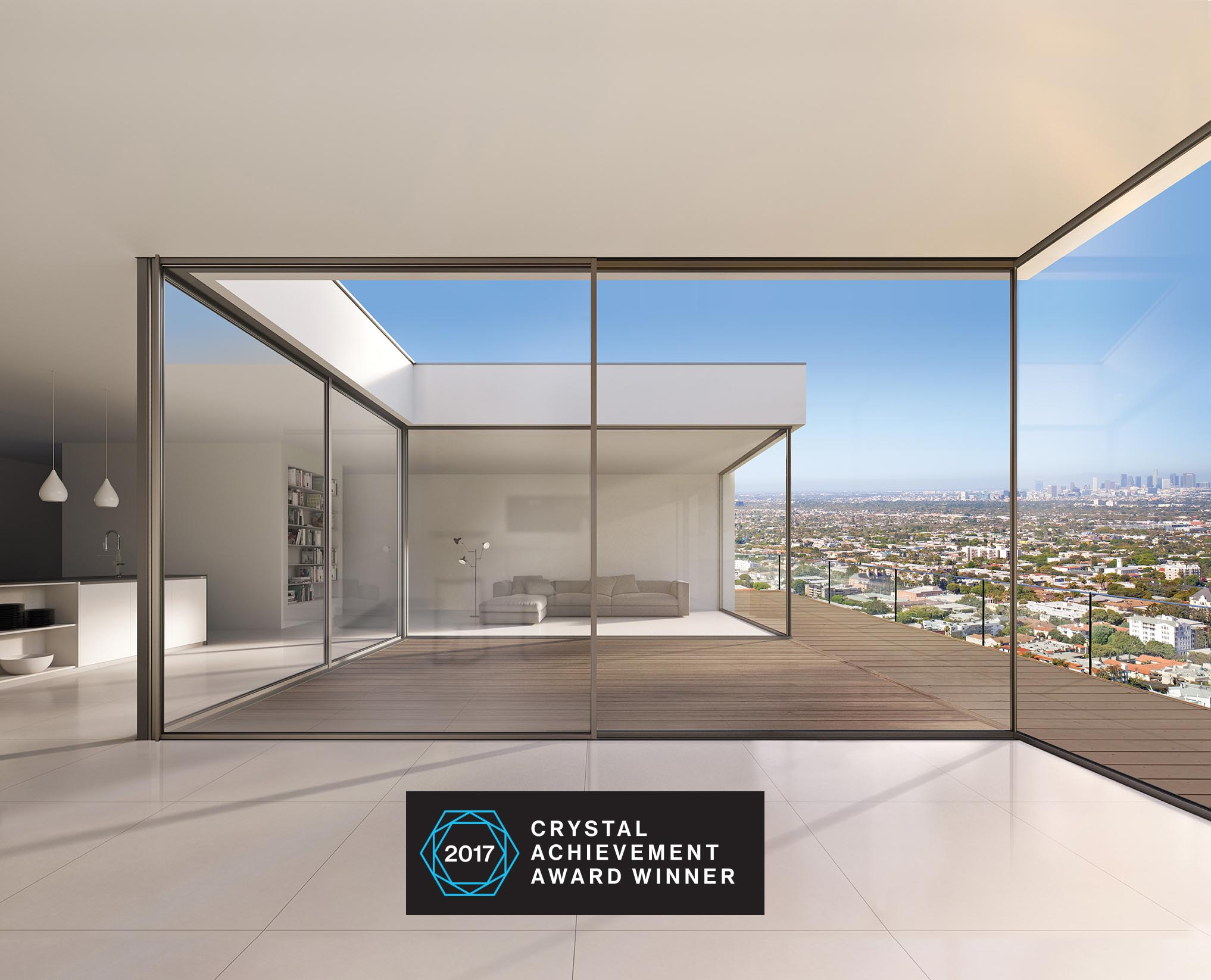 Cero wins crystal achievement award nanawall for Sliding glass wall systems