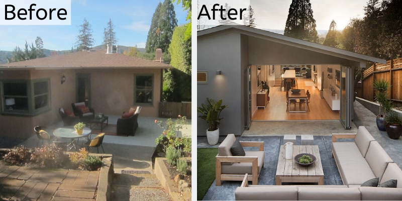 a remodel that transforms a home increasing indoor/outdoor lifestyle