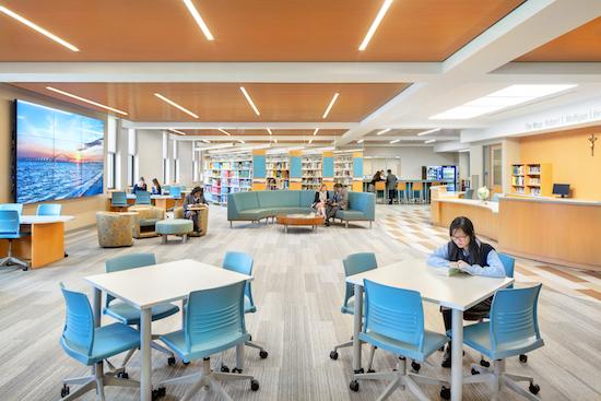 Designers Complete Modern Redesign Of New York Catholic High School