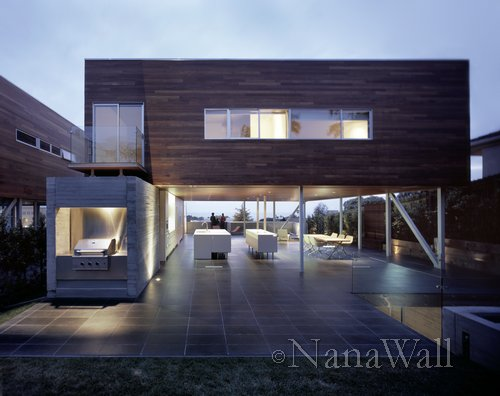 Homes of the Future with Indoor Outdoor living and glass walls