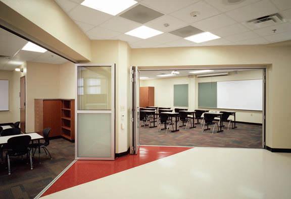 NanaWall folding systems in schools, education