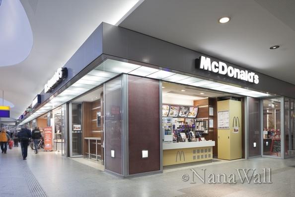 NanaWall doors at MCDonalds fast food restaurant
