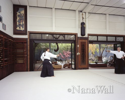 Japanese style folding doors from NanaWall in martial arts studio