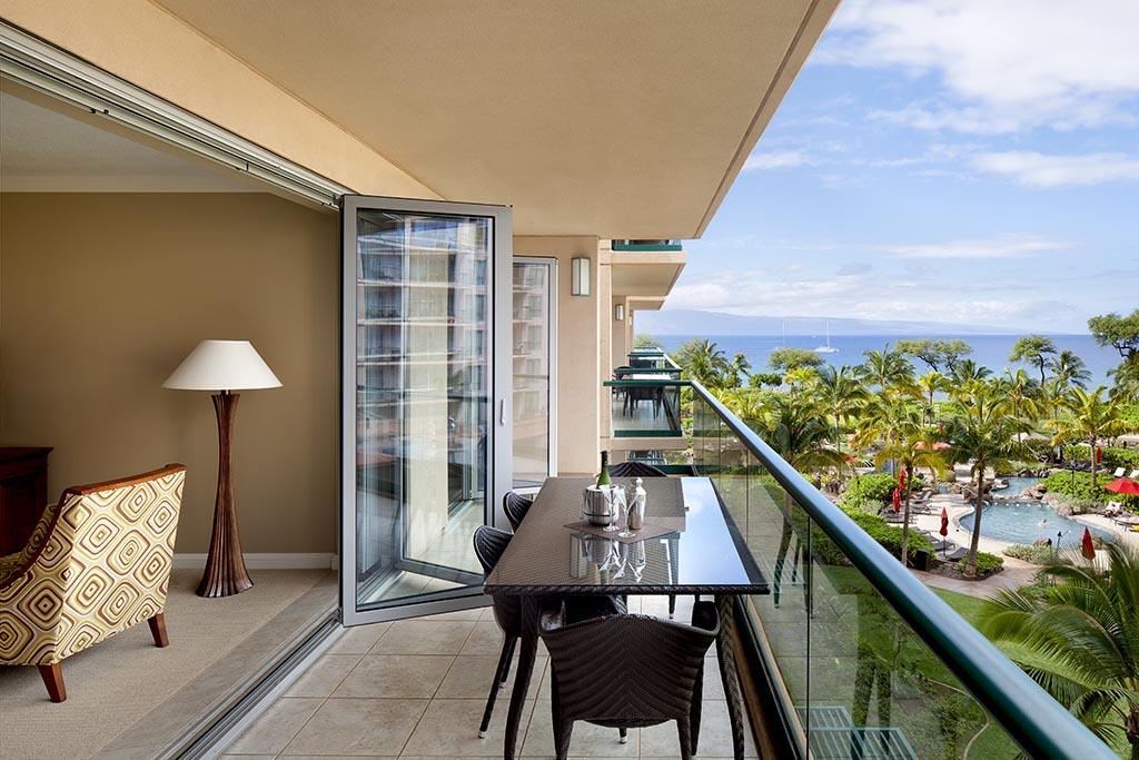 Honua Kai suite with folding glass wall