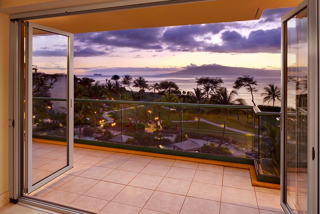 Honua Kai suite with NanaWall operable glass wall