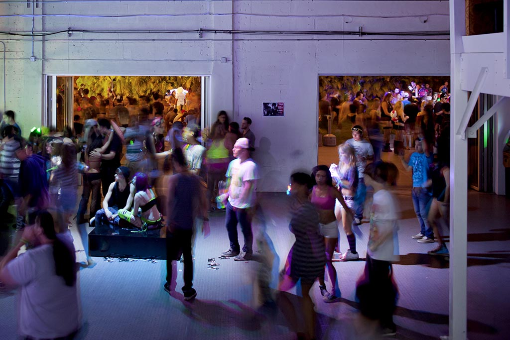 The Awarehouse rave party with NanaWall accordion doors