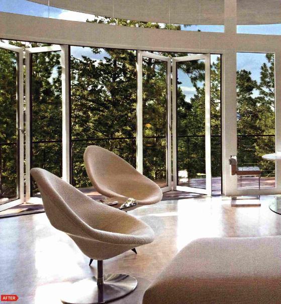 circular opening with nanawall glass walls