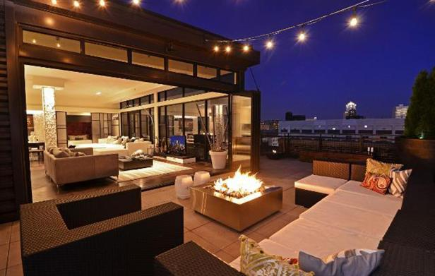 entertaining terrace with nanawall operable wall