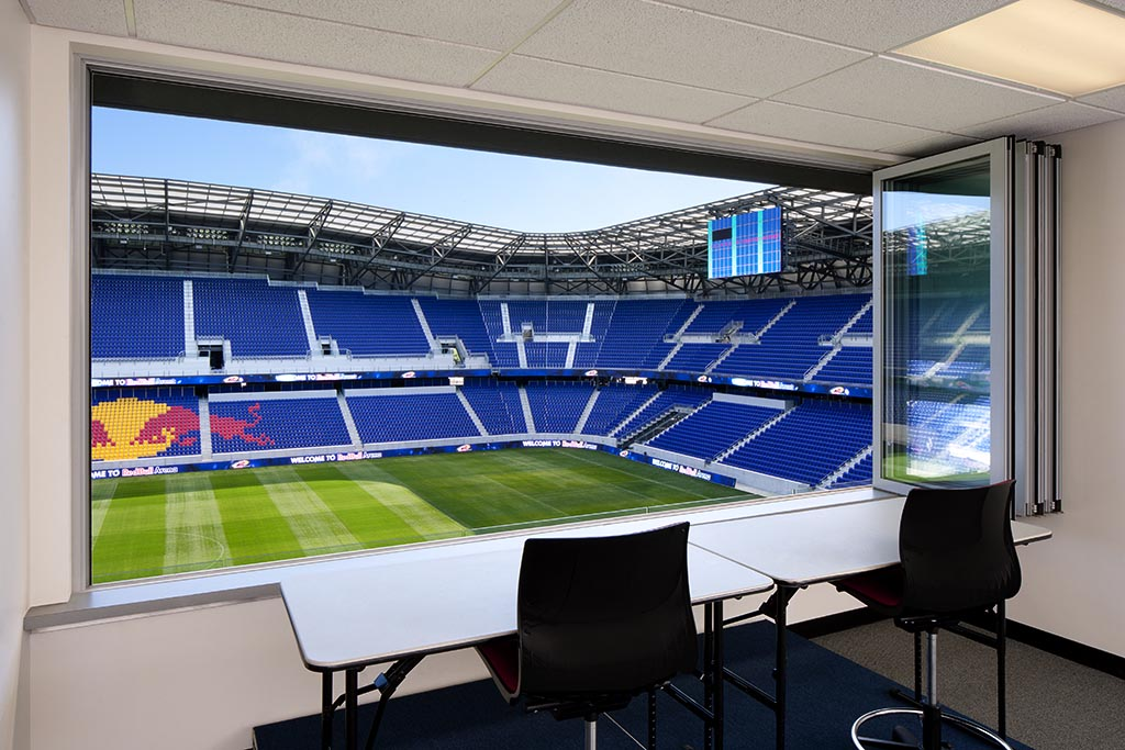 wide opening with folding window at New York Red Bulls