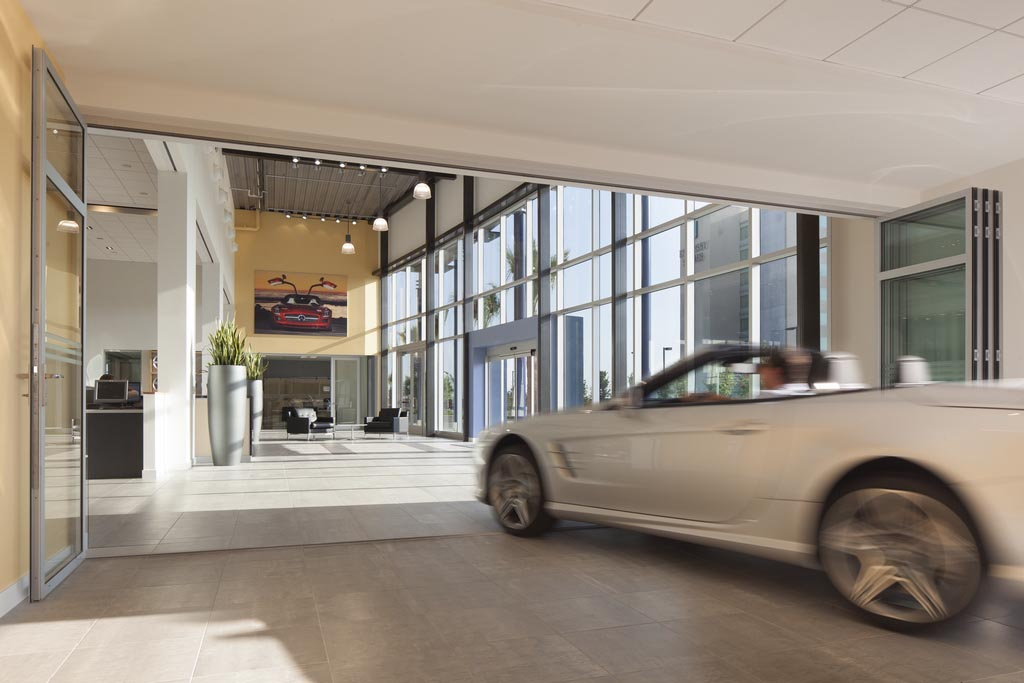Glass doors are in garage doors are out nanawall for Garage mercedes paris 12