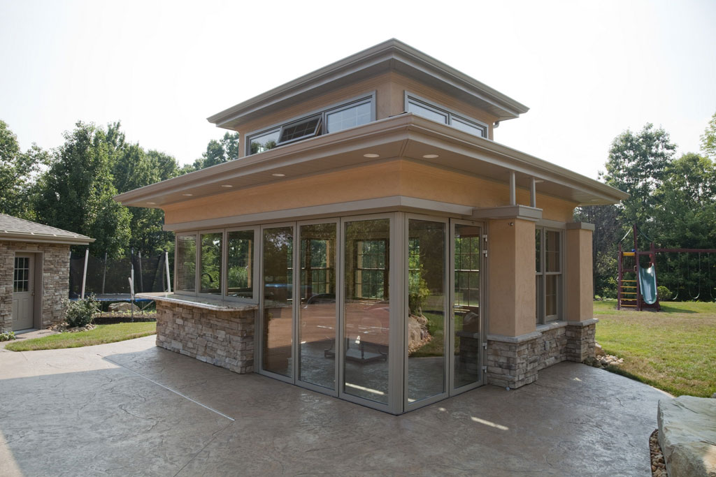 2012 year in review 1 sewickely pool house nanawall for Custom pool house