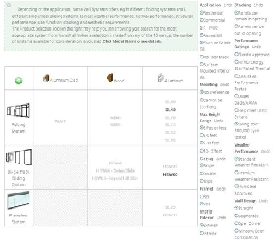 product selection tool- BOLD