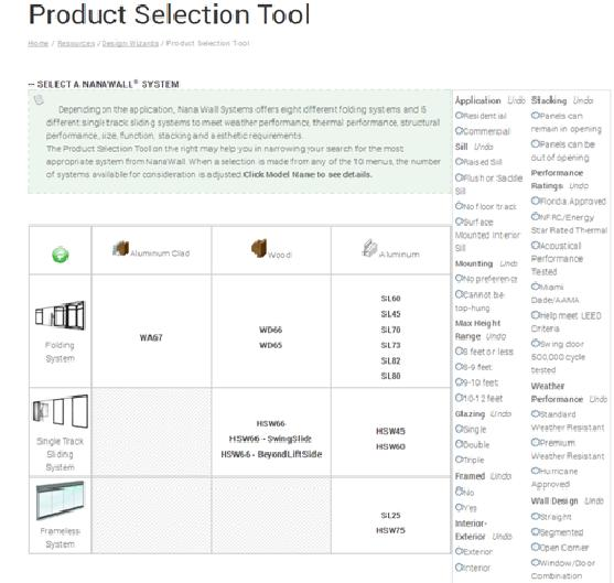 production selection tool