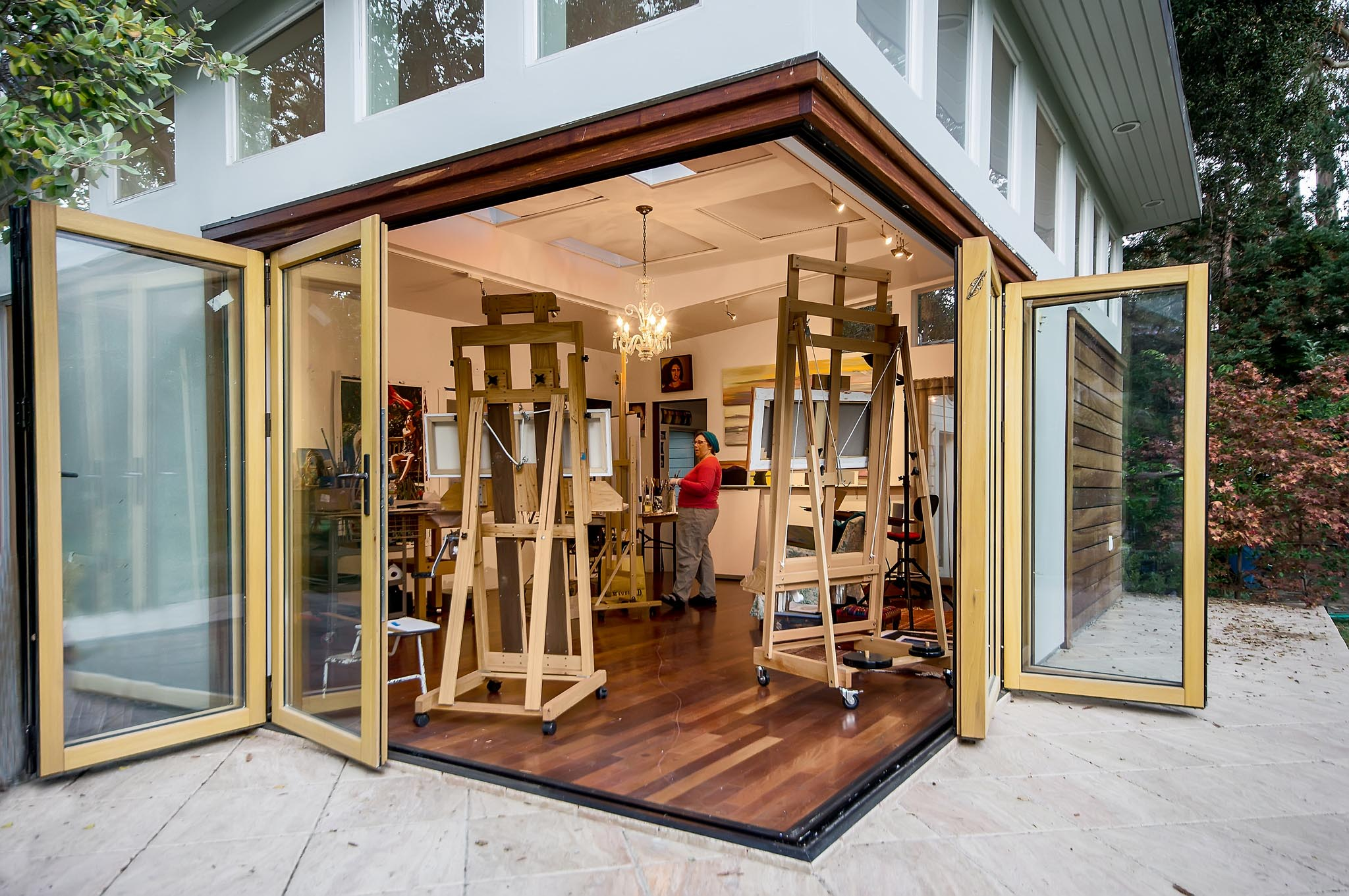 Art studio all gallery nanawall operable glass for Cost of nanawall systems