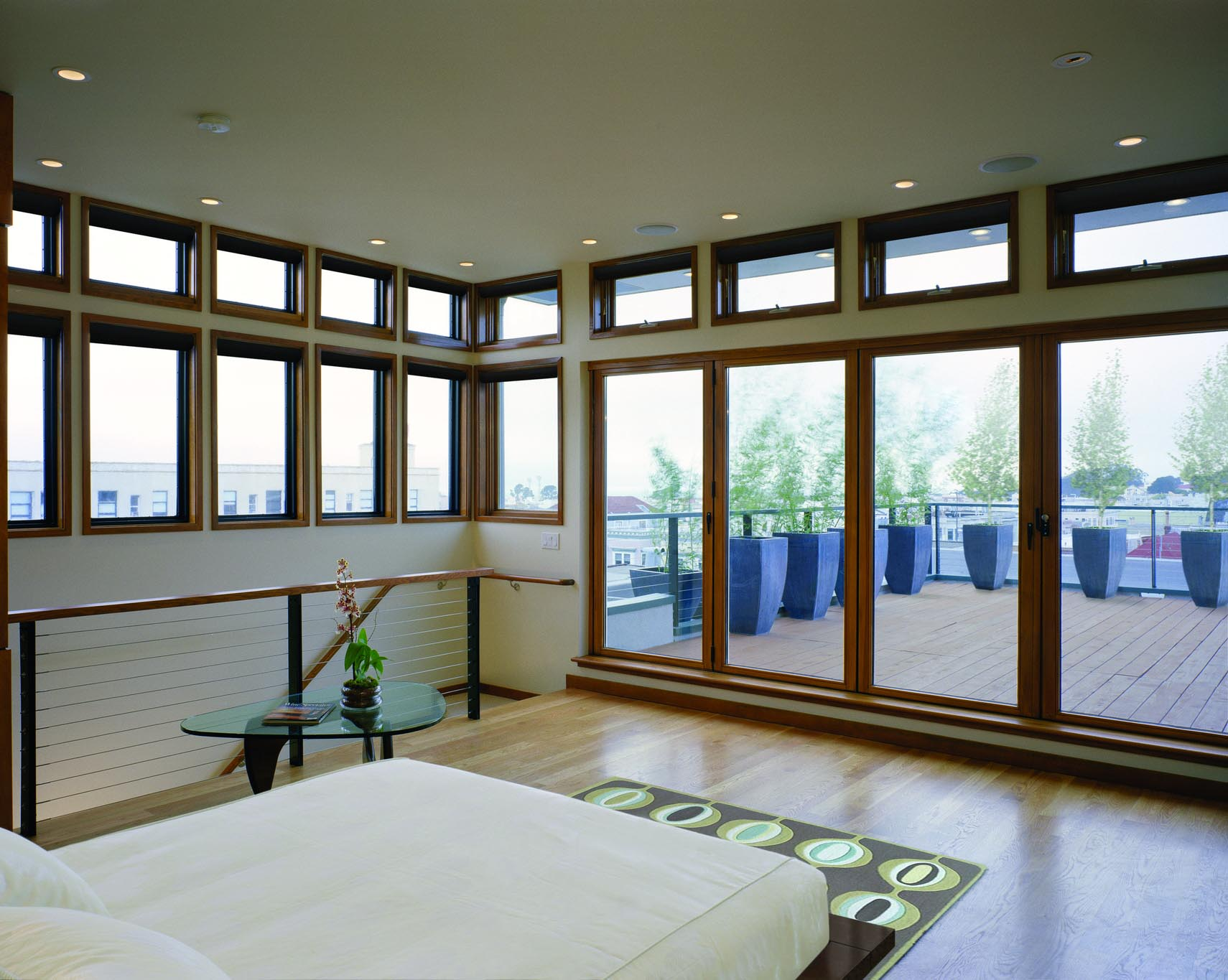 Marina penthouse nanawall for Glass folding walls