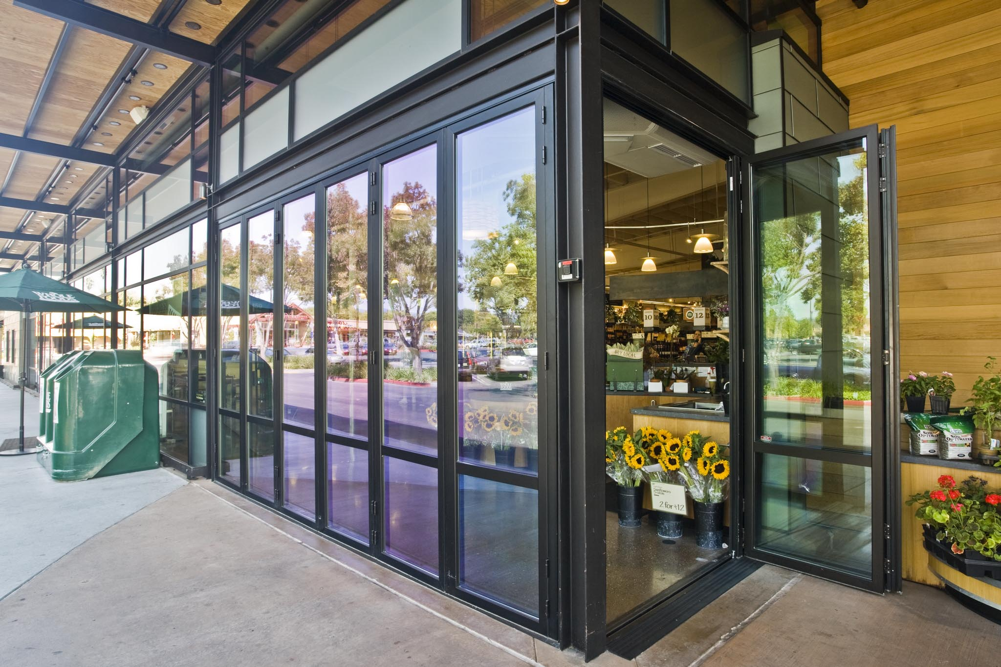 Whole Foods Napa Gallery Nanawall Operable Glass Wall Systems