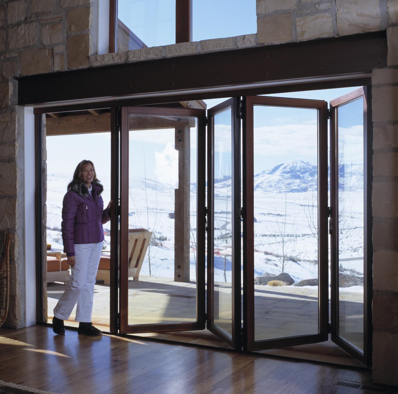 Park city house all gallery nanawall operable for Sliding glass wall