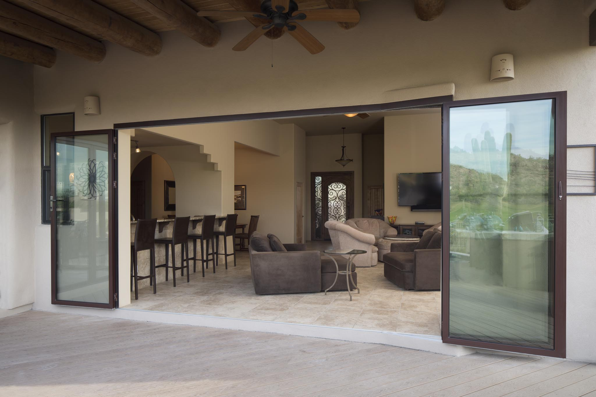 Mesa residence all gallery nanawall operable glass for Glass wall door systems