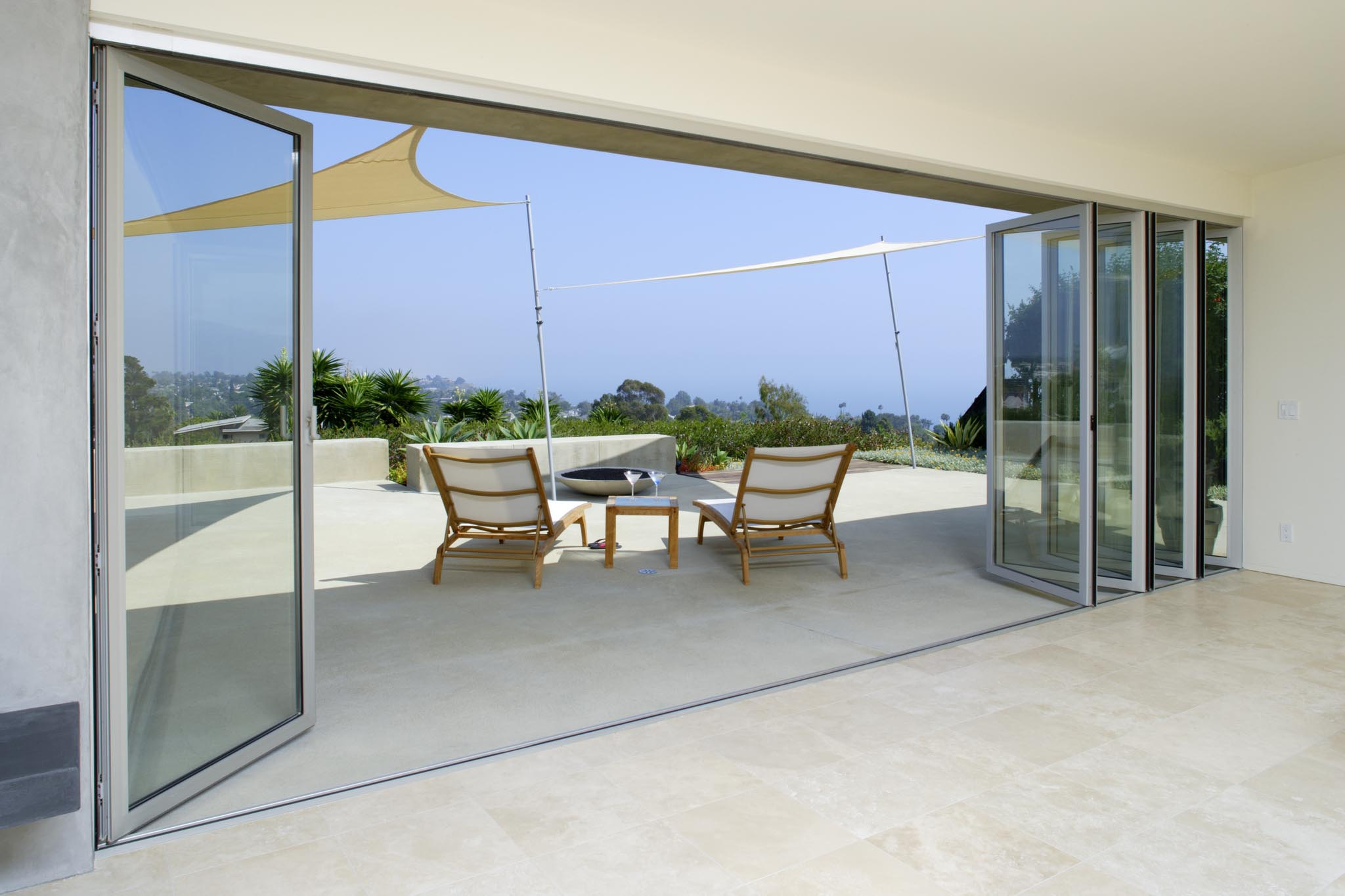 Pacific palisades residence gallery nanawall operable - Folding partitions residential ...