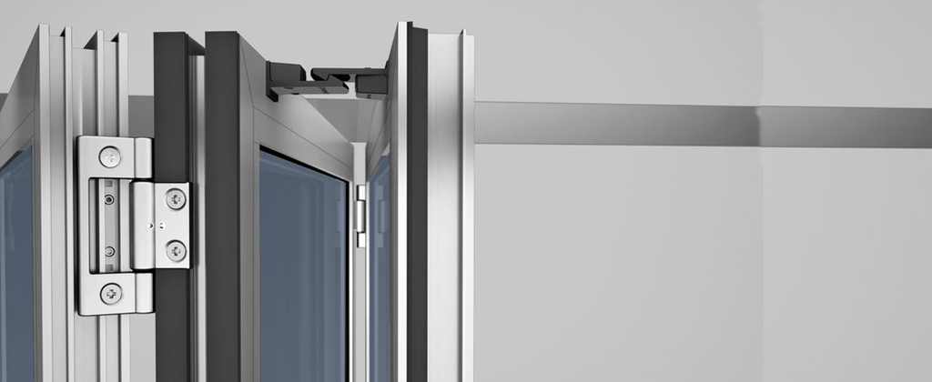 SL45 Folding Glass Walls -Optional Stainless Steel Hinges