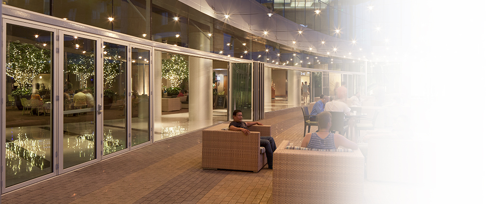SL70-Folding Glass Walls-designed for high traffic areas