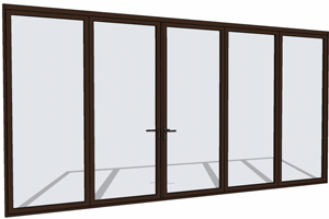 Brown folding door in SketchUp  sc 1 st  NanaWall & Folding Doors with Dynamic SketchUp Components | NanaWall pezcame.com