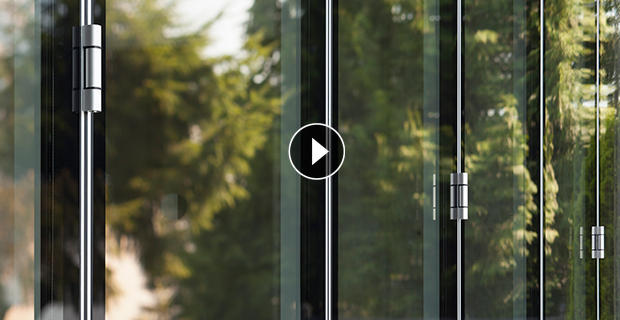 Bifold doors folding glass wall systems from nanawall for Retractable glass wall system