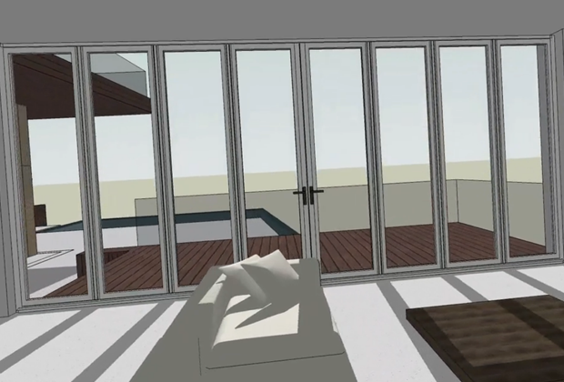 Folding Door with SketchUp inside view & SketchUp Folding Doors with Dynamic Components | NanaWall