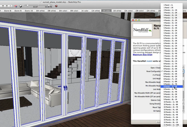 Folding Doors within the SketchUp Tool & Folding Doors with Dynamic SketchUp Components | NanaWall Pezcame.Com